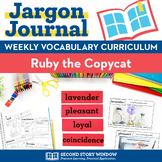 Ruby the Copycat Vocabulary