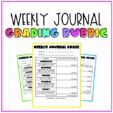 Weekly Journal Grade Rubric