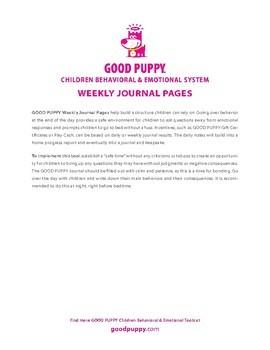 Behavior Journal . Child Behavioral & Emotional Tools by GOOD PUPPY