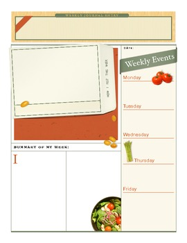 photo about Weekly Journal Template identify Weekly Magazine Template