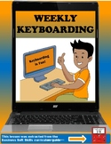 Weekly Keyboarding Practice with Homework Worksheet