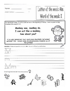 original 270732 1 - Kindergarten Homework Packets