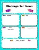 Weekly Kindergarten Newsletter Template
