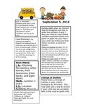 Weekly Kindergarten Newsletters