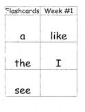 Weekly Kindergarten Spelling Homework