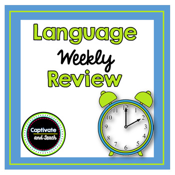 Weekly Language Arts Review