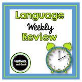 Weekly Language Arts Review