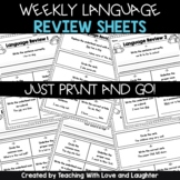 First Grade Weekly Language Review Sheets | Google Classroom | Distance Learning