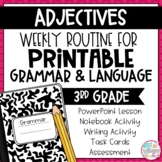 Weekly Language and Grammar Activities: Adjectives