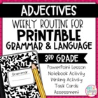 Weekly Language and Grammar Activities: Adjectives