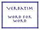 Weekly Latin Phrases Language Arts Word Study Etymology CCSS ELA