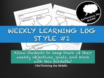 Weekly Learning Log Style #1