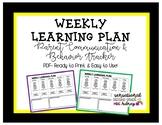 Weekly Learning Plan/Behavior Tracker- pdf