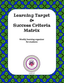 Weekly Learning Target Matrix
