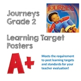 Weekly Learning Target Posters Journeys Grade 2