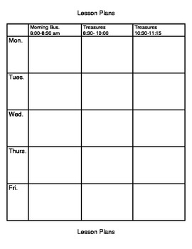 Weekly Lesson Plan 1 Template