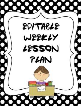 Weekly Lesson Plan 2 - Editable