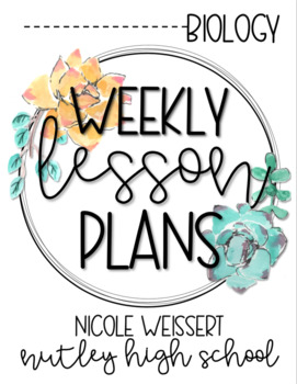 Weekly Lesson Plan Outline - Cactus Theme