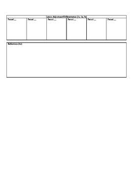 Weekly Lesson Plan-Danielson Framework PDF Version