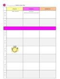 Weekly Lesson Plan - Editable