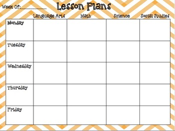 Weekly Lesson Plan Editable Template Teaching Resources Teachers - Fillable lesson plan template
