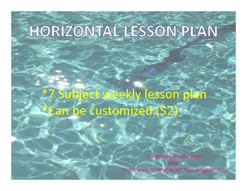 Weekly Lesson Plan - Horizontal