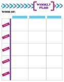 Weekly Lesson Plan Organizer - 3 Columns