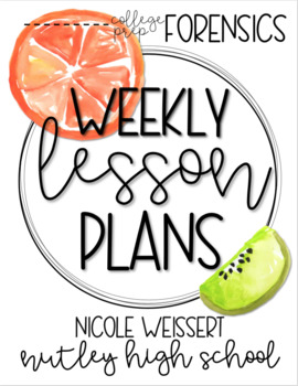 Weekly Lesson Plan Outline - Citrus Theme