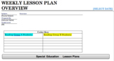 Weekly Lesson Plan Overview