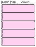 Weekly Lesson Plan Schedule Printable