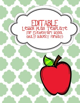 Lesson Plan Template Weekly At a Glance All Subjects