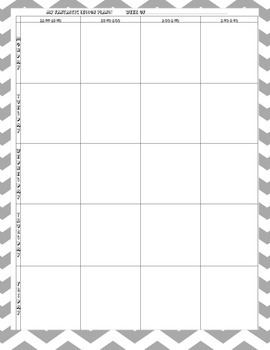 Weekly Lesson Plan Template FREEBIE
