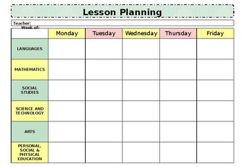 Weekly Lesson Plan Template by Jola Blossoms | Teachers ...