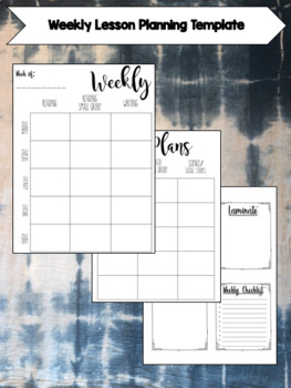 Weekly Lesson Plan Template- Editable