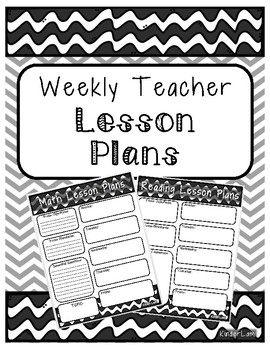 Weekly Lesson Plan Template Black