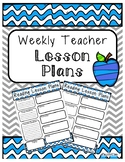 Weekly Lesson Plan Template Blue