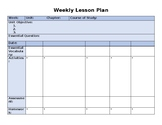 Weekly Lesson Plan Template - EDITABLE!