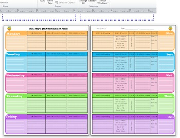 Weekly Lesson Plan Template -EDITABLE- colorful