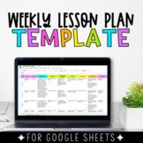 Weekly Lesson Plan Google Sheets Template