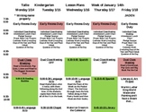 Weekly Lesson Plan Template- all grades