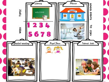 Weekly Lesson Plan Template for Literacy.  For any Level! Planning
