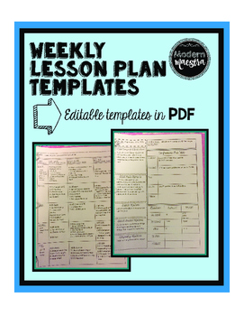 Weekly Lesson Plan Templates