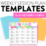 Weekly Lesson Plan Templates   Editable   with Distance Le