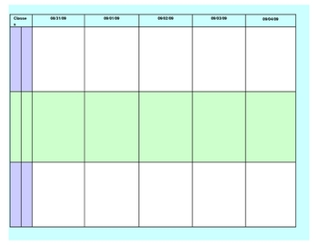weekly lesson plan two page by jan zeiger teachers pay teachers