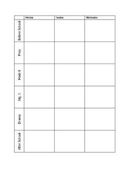 Weekly Lesson Plan (editable)