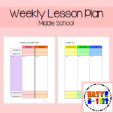 Weekly Lesson Plan for Middle School