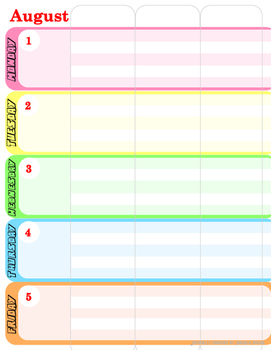 Weekly Lesson Planner 2016-2017