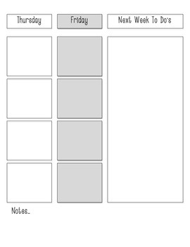 Printable Weekly Lesson Planner