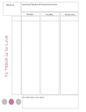 Weekly Lesson Planner