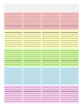 Editable Weekly Lesson Planner
